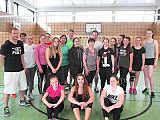 Volleyballspiel Lehrer gegen Schüler