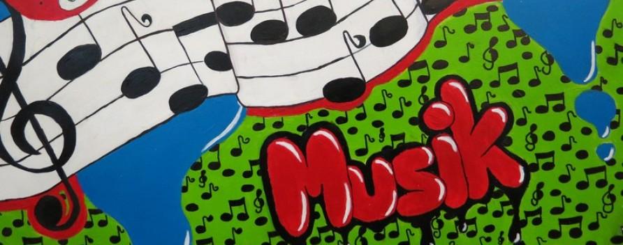 Schulhausgestaltung - Musik - Frühling!