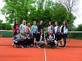 Die Klasse 10c spielt Tennis